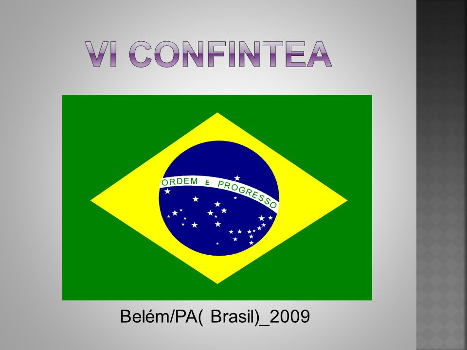 Vi CONFInTEA Belém/PA( Brasil)_2009