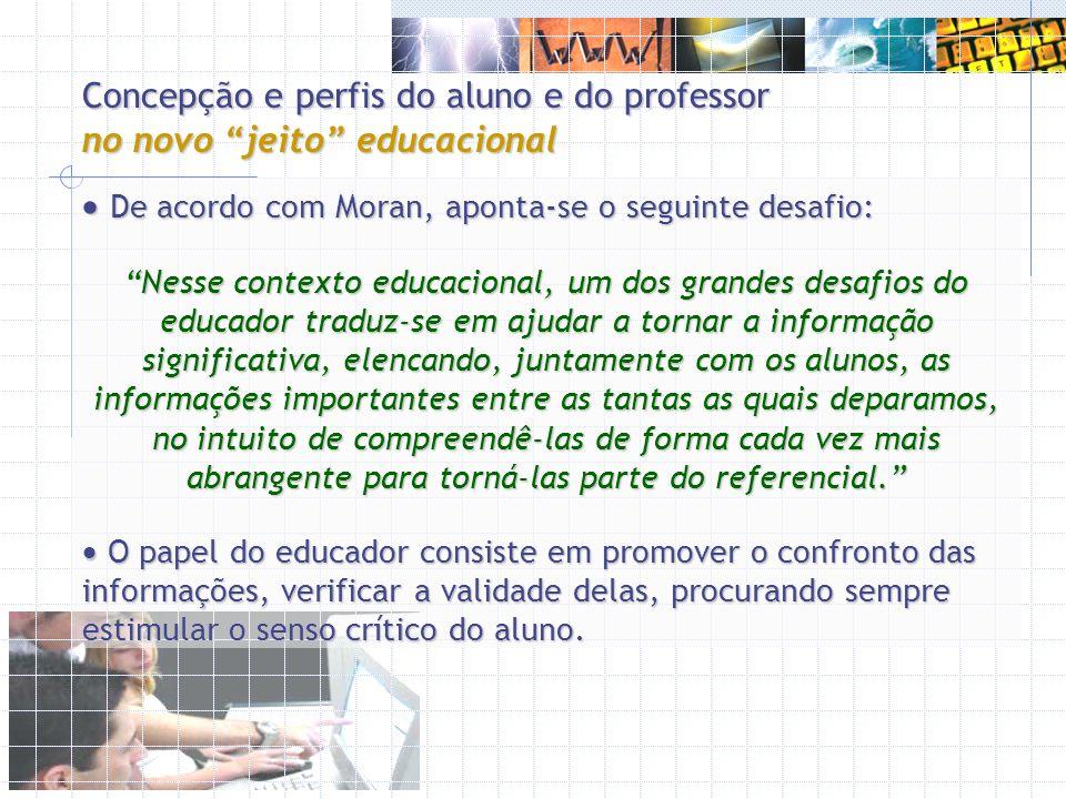 Concepção e perfis do aluno e do professor no novo jeito educacional