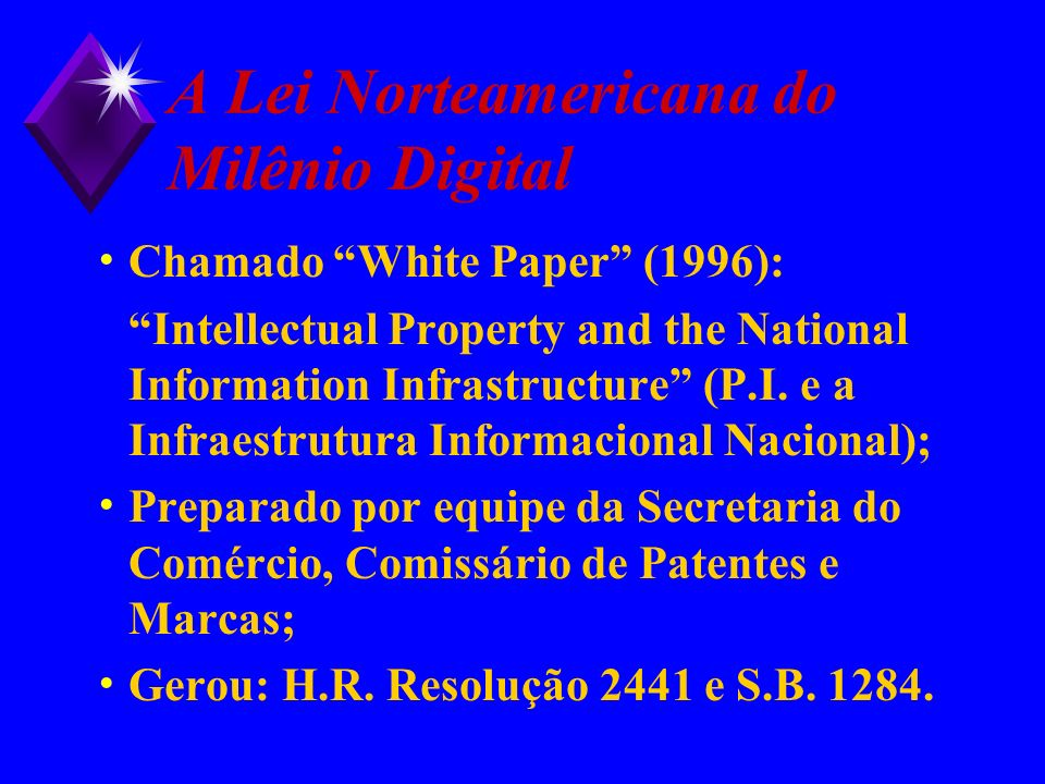 A Lei Norteamericana do Milênio Digital