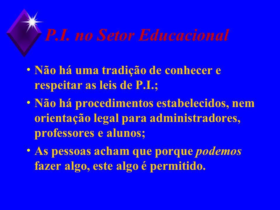 P.I. no Setor Educacional