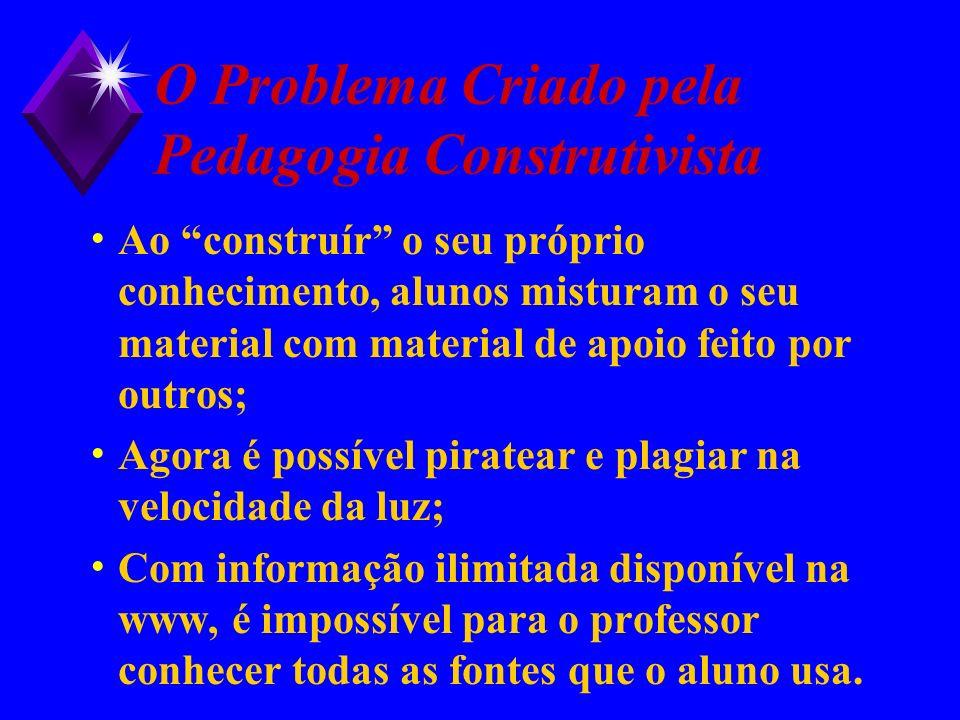 O Problema Criado pela Pedagogia Construtivista