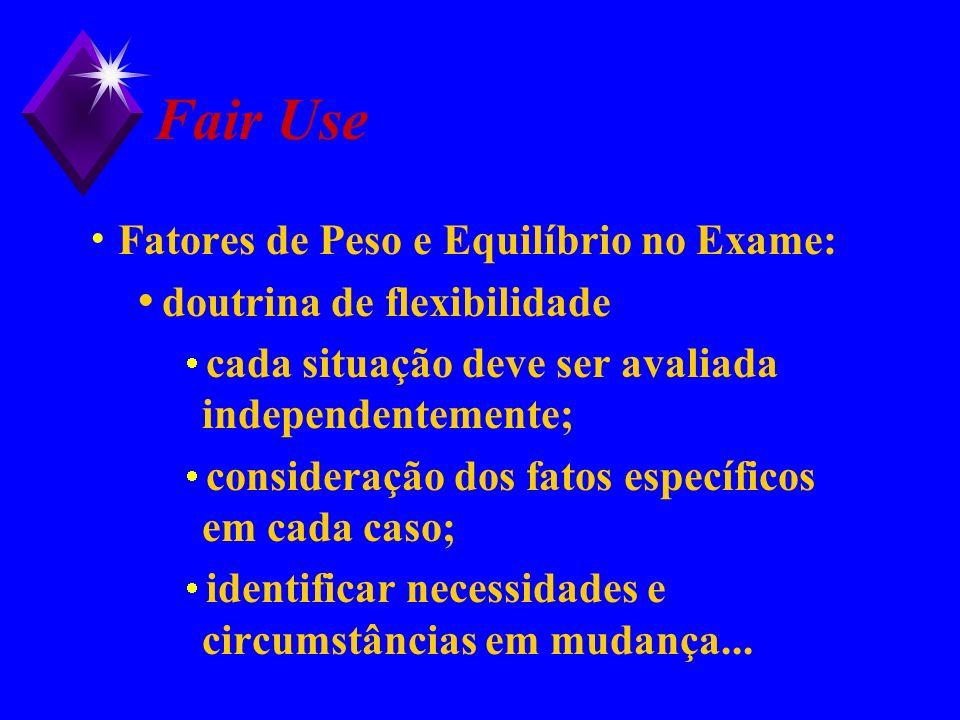 Fair Use Fatores de Peso e Equilíbrio no Exame: