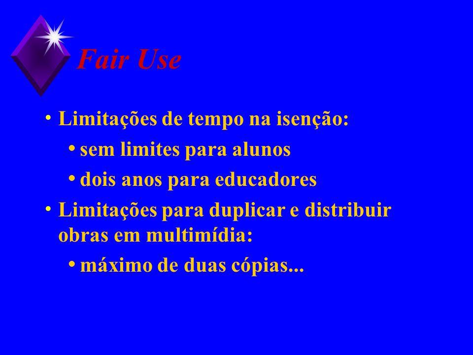 Fair Use Limitações de tempo na isenção: sem limites para alunos