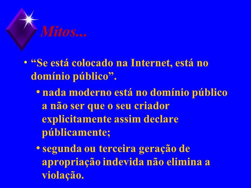 Mitos... Se está colocado na Internet, está no domínio público .