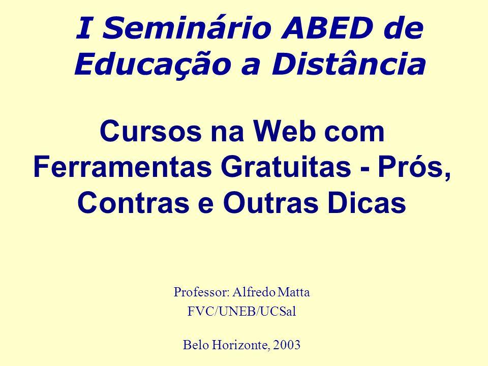 I Seminário ABED de Educação a Distância