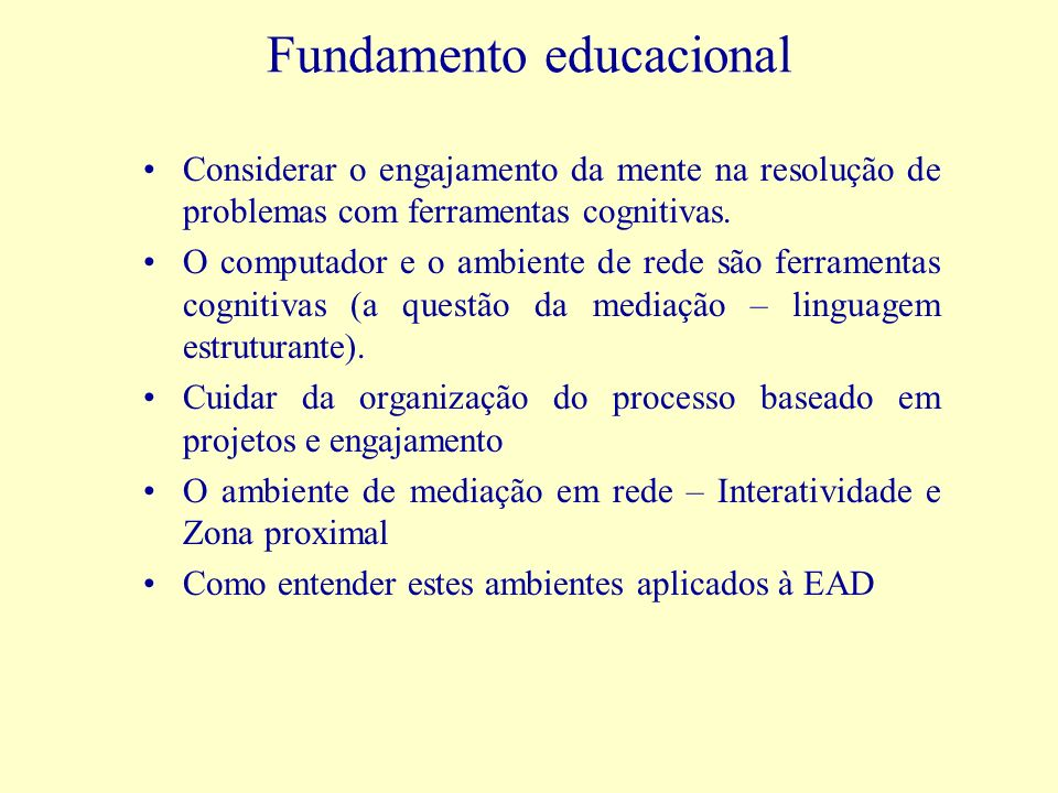 Fundamento educacional