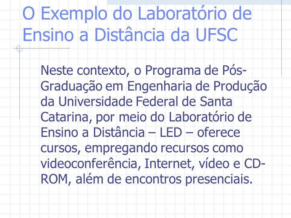 O Exemplo do Laboratório de Ensino a Distância da UFSC