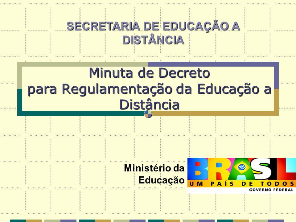 Minuta de Decreto para Regulamentação da Educação a Distância