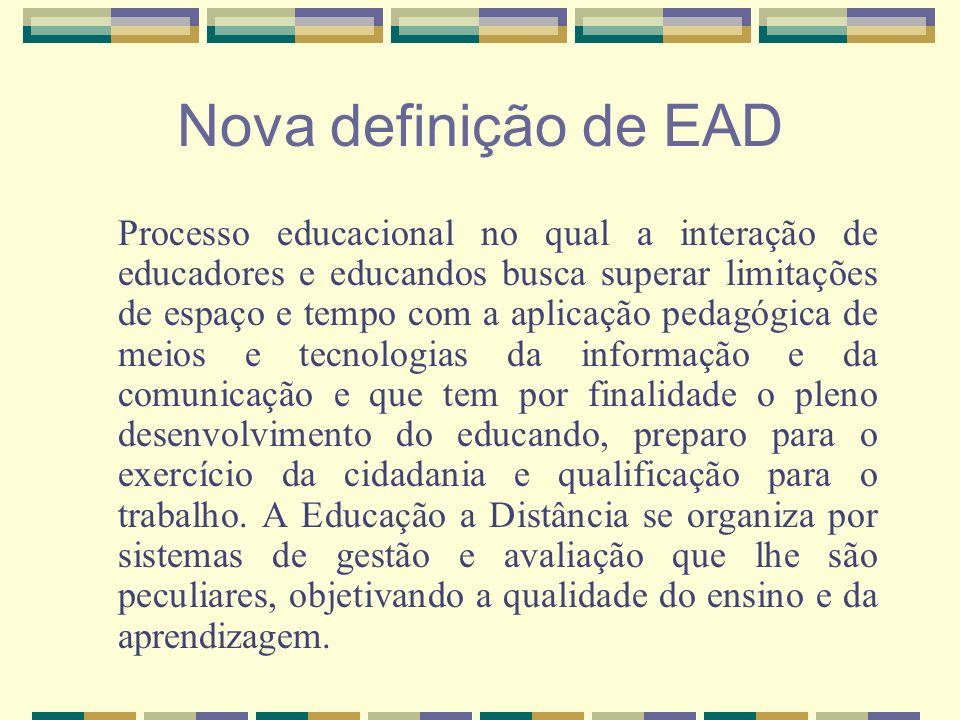 Nova definição de EAD