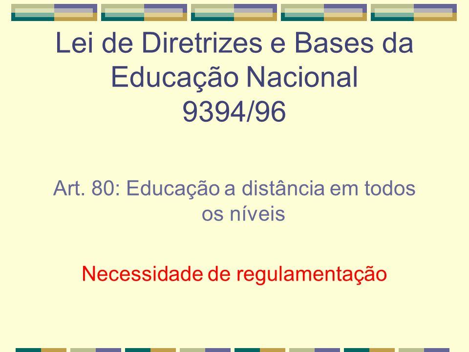 Lei de Diretrizes e Bases da Educação Nacional 9394/96