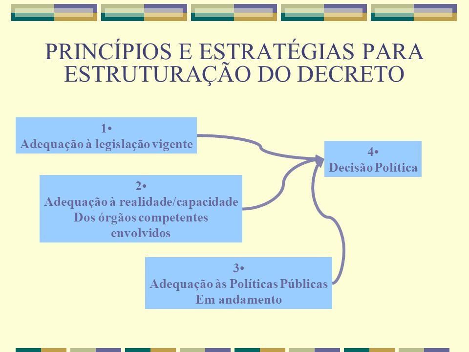 PRINCÍPIOS E ESTRATÉGIAS PARA ESTRUTURAÇÃO DO DECRETO