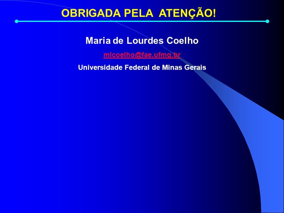 Maria de Lourdes Coelho Universidade Federal de Minas Gerais