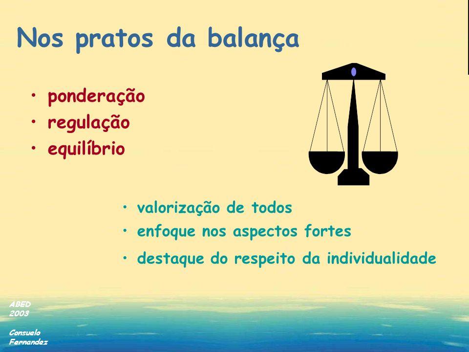 Nos pratos da balança ponderação regulação equilíbrio
