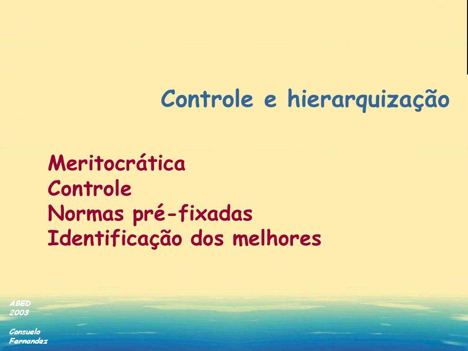 Controle e hierarquização