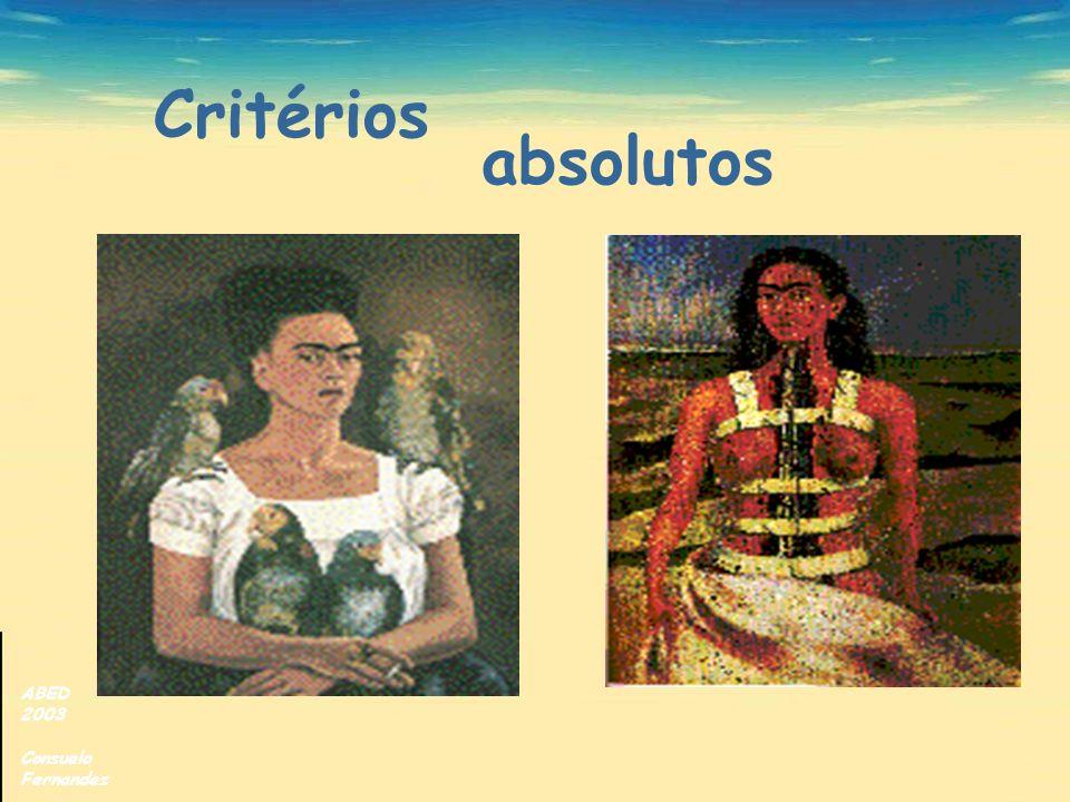 Critérios absolutos ABED 2003 Consuelo Fernandez