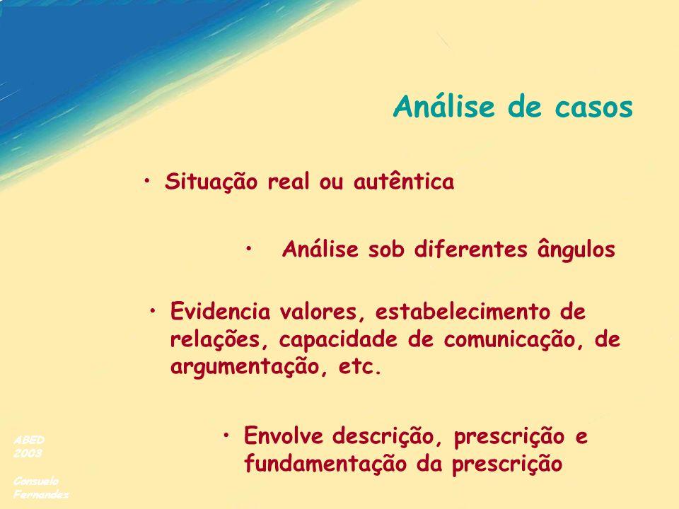 Análise de casos Situação real ou autêntica