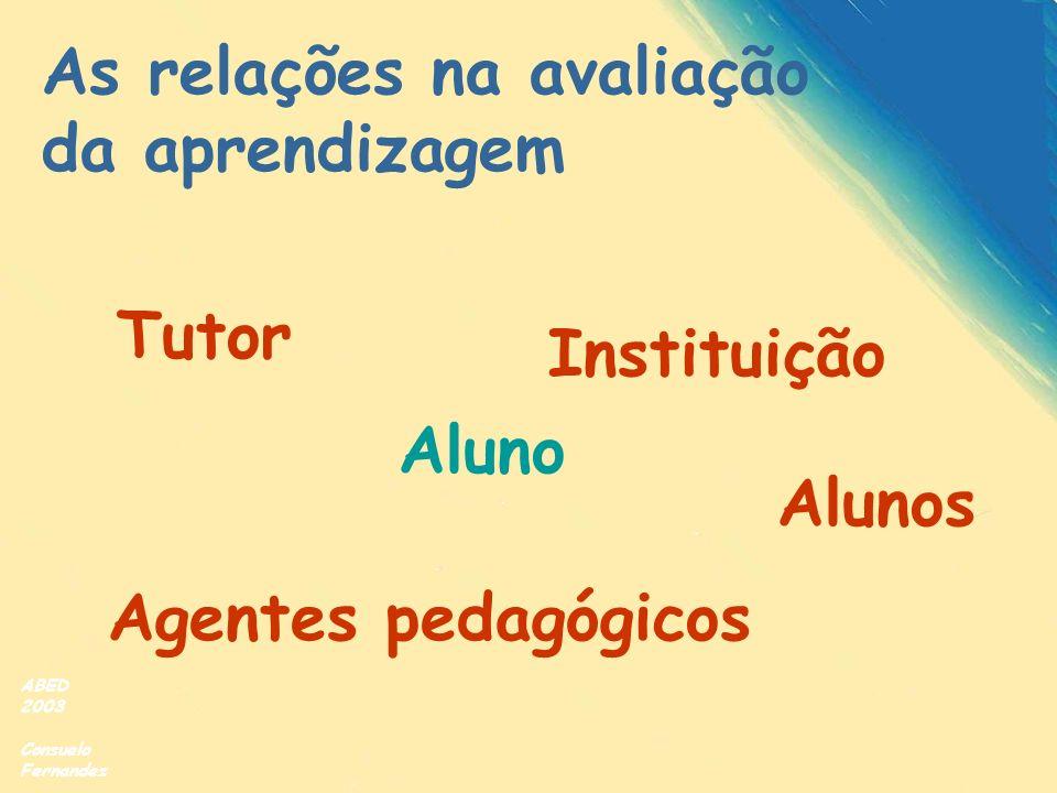 As relações na avaliação da aprendizagem
