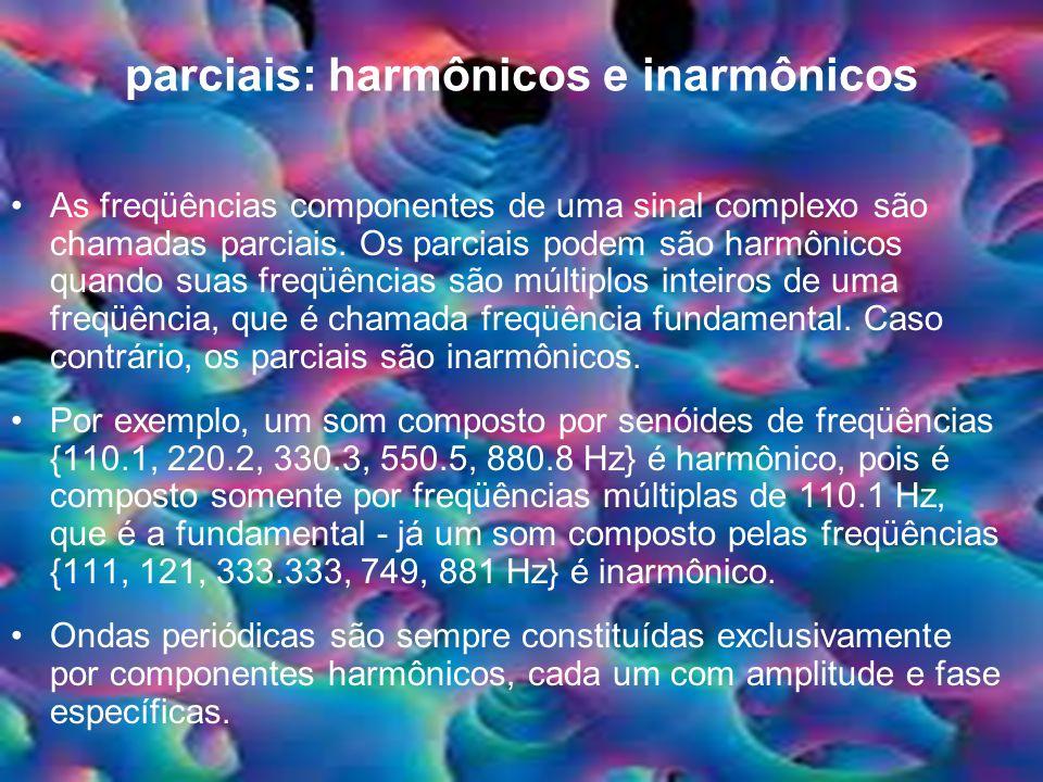 parciais: harmônicos e inarmônicos