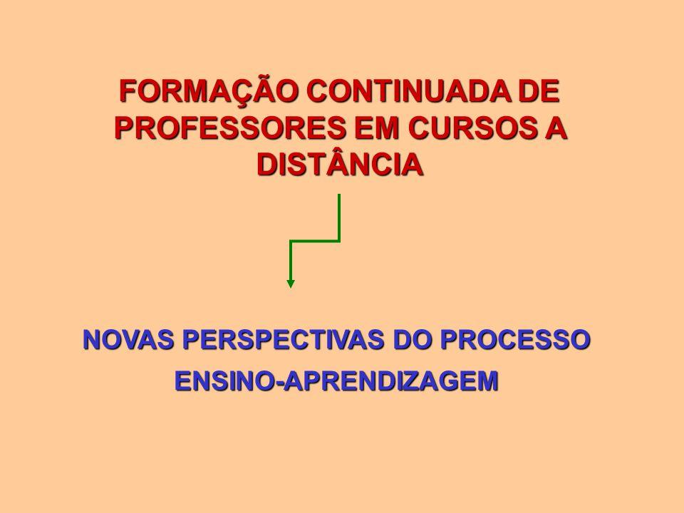 FORMAÇÃO CONTINUADA DE PROFESSORES EM CURSOS A DISTÂNCIA