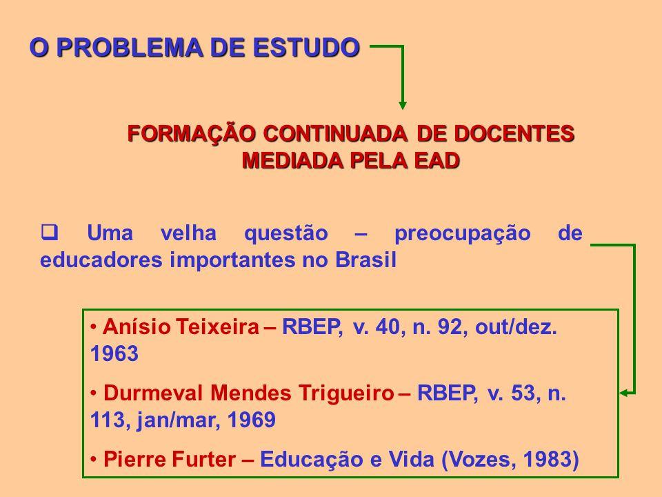 FORMAÇÃO CONTINUADA DE DOCENTES MEDIADA PELA EAD