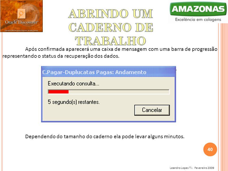 ABRINDO UM CADERNO DE TRABALHO