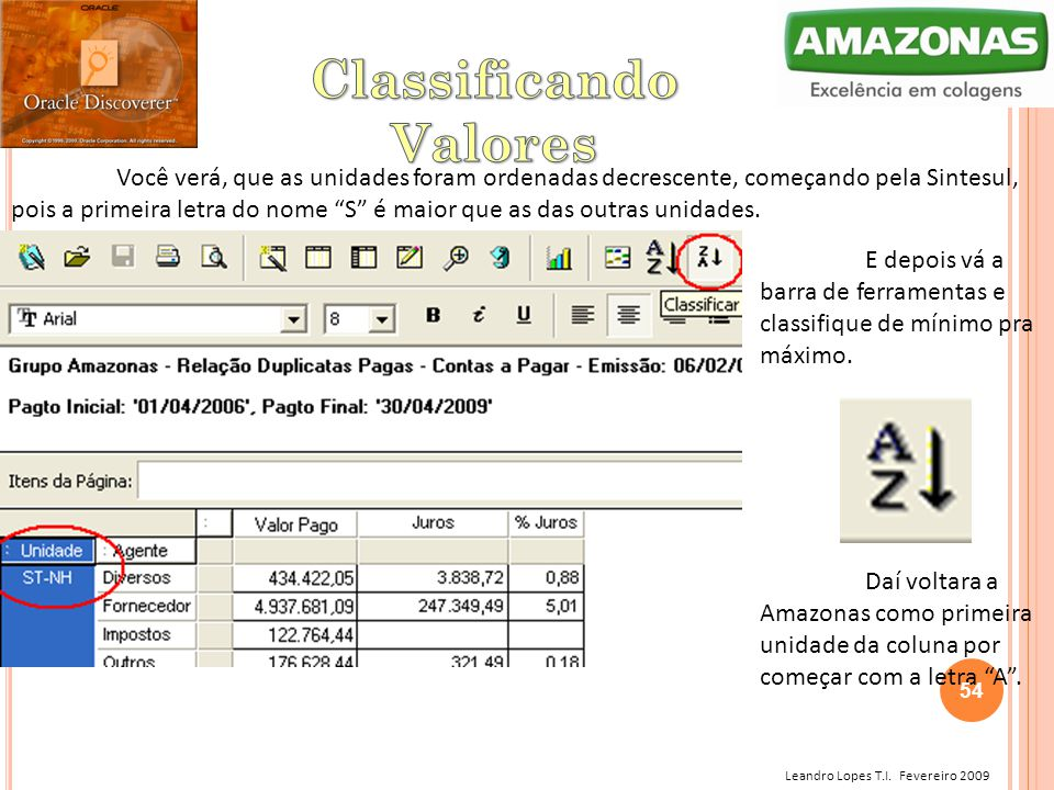 Classificando Valores