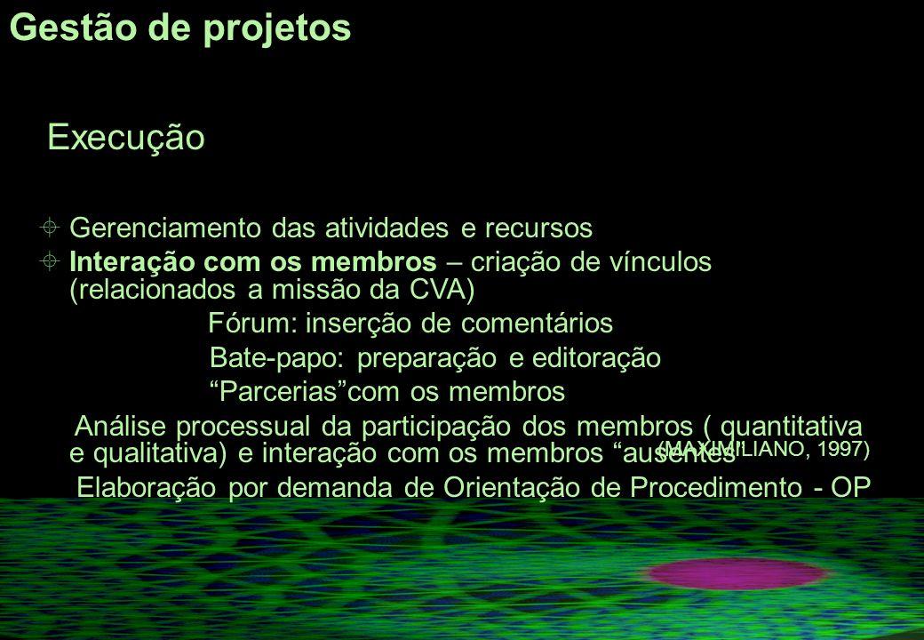 Gestão de projetos Gerenciamento das atividades e recursos