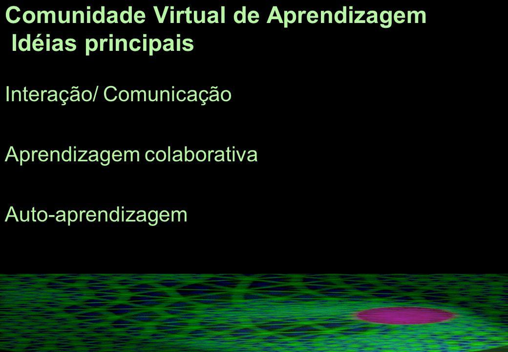 Comunidade Virtual de Aprendizagem Idéias principais