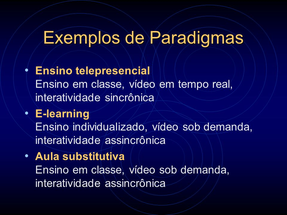 Exemplos de Paradigmas