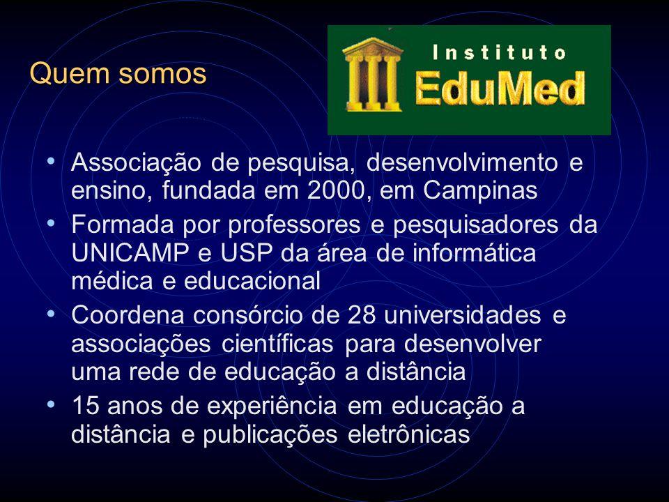 Quem somos Associação de pesquisa, desenvolvimento e ensino, fundada em 2000, em Campinas.
