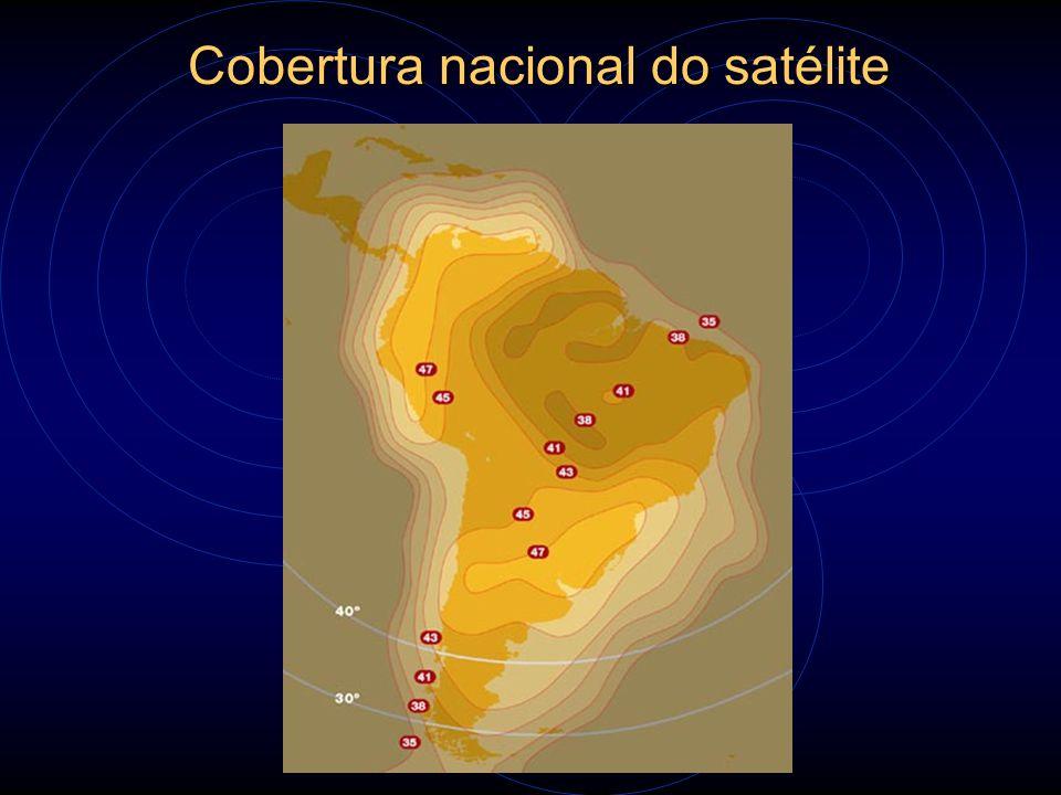Cobertura nacional do satélite