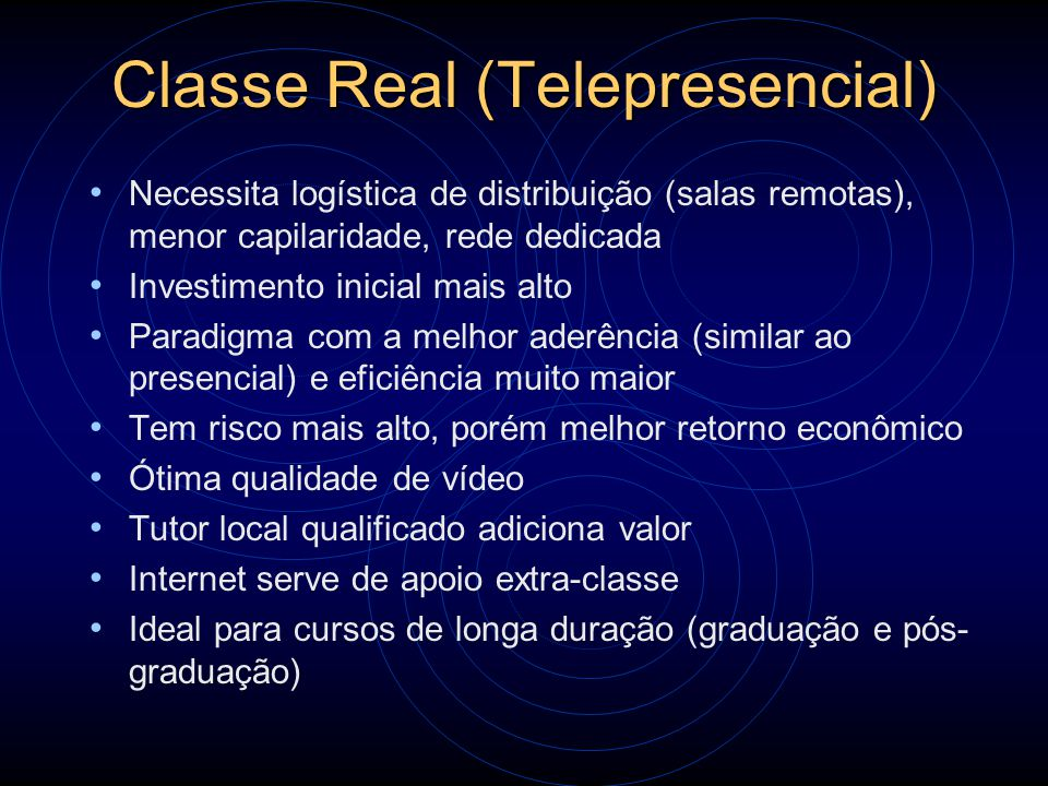 Classe Real (Telepresencial)