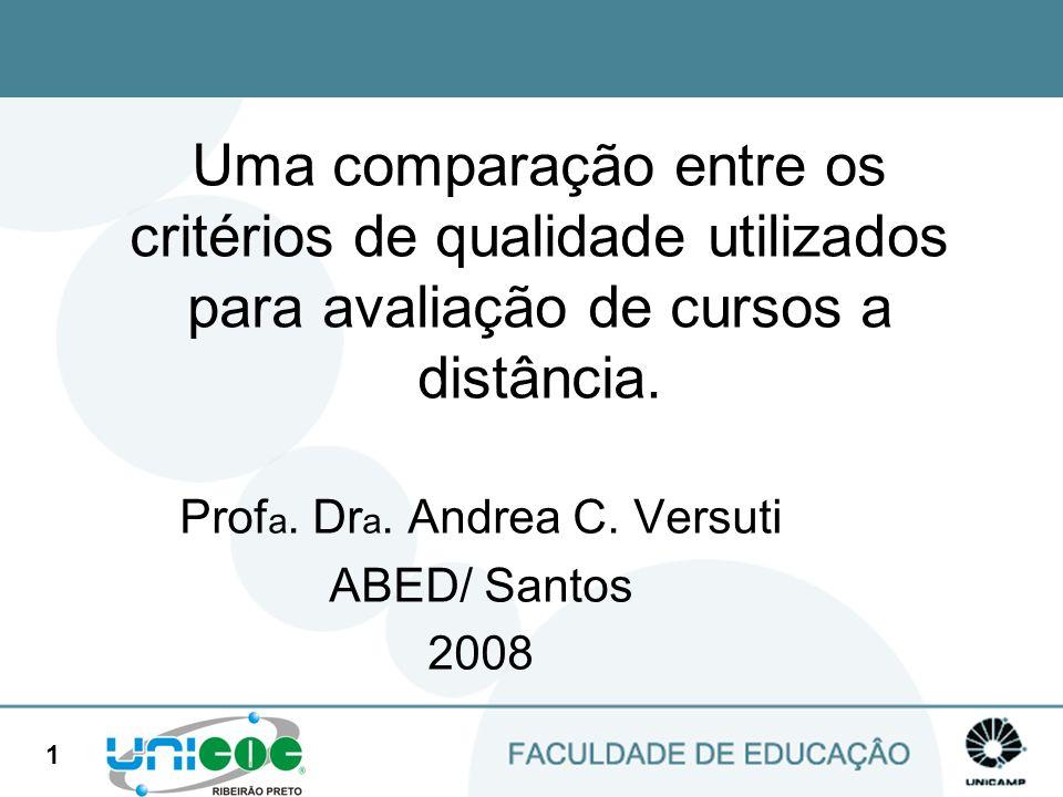 Profa. Dra. Andrea C. Versuti ABED/ Santos 2008