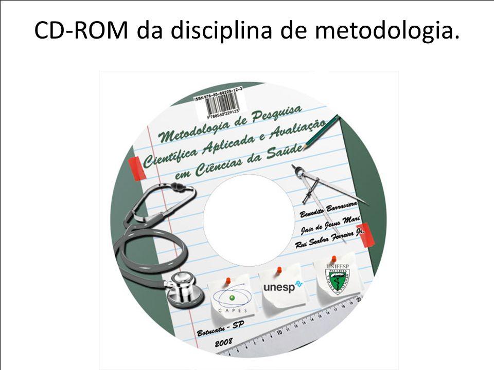 CD-ROM da disciplina de metodologia.