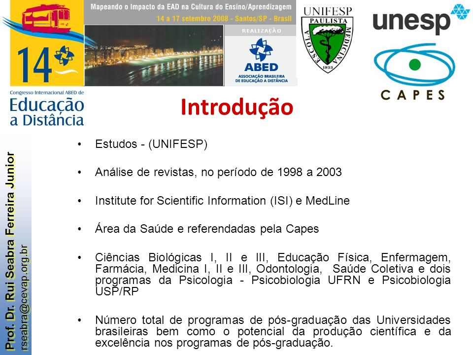 Introdução Estudos - (UNIFESP)