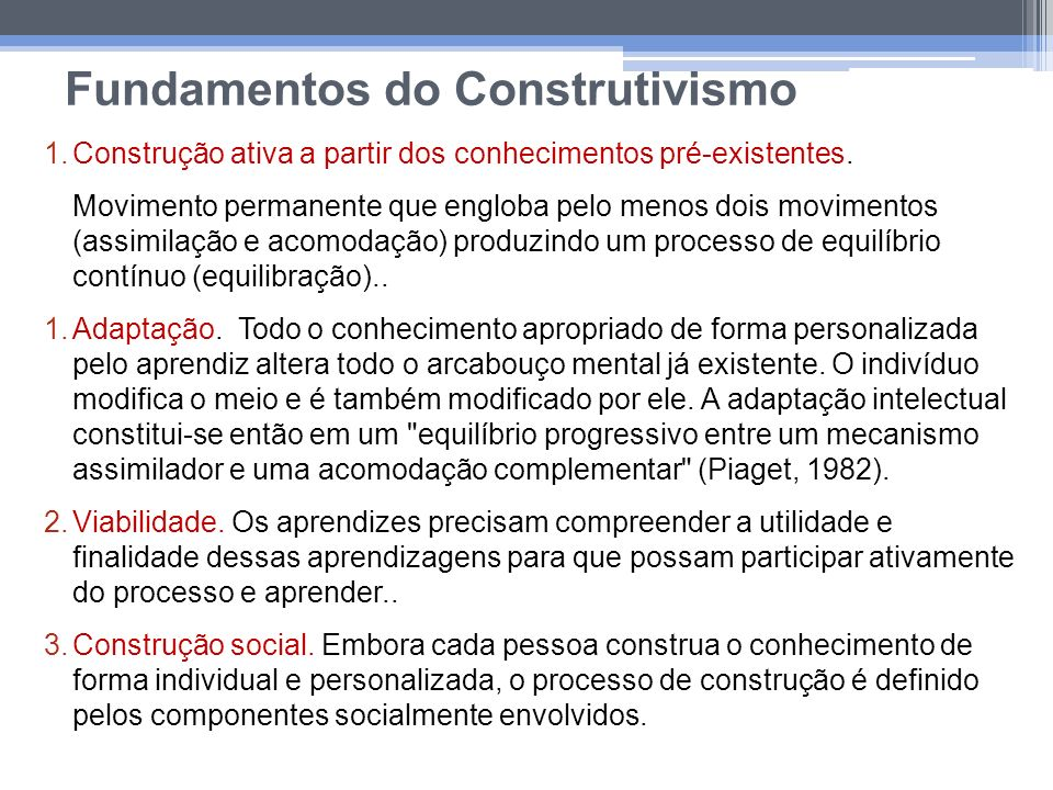 Fundamentos do Construtivismo