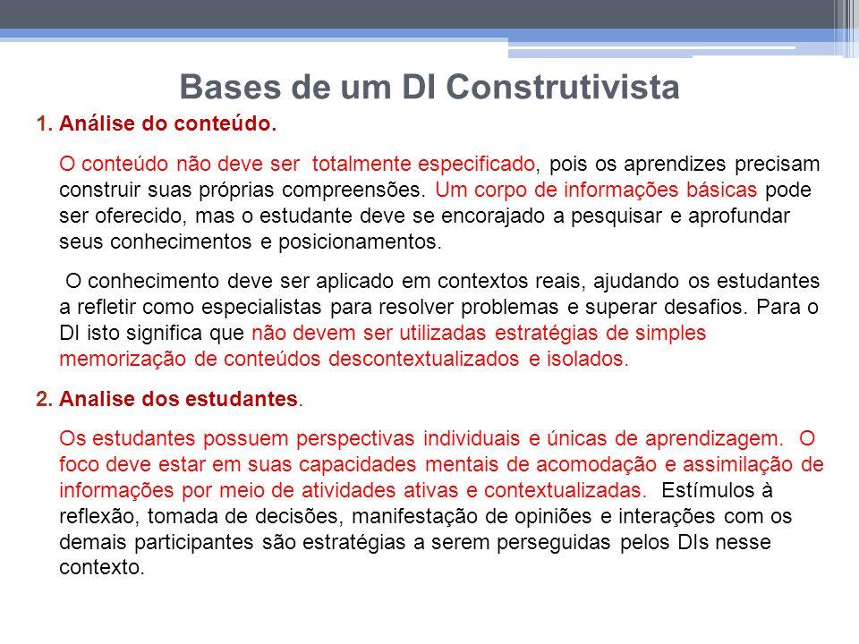 Bases de um DI Construtivista