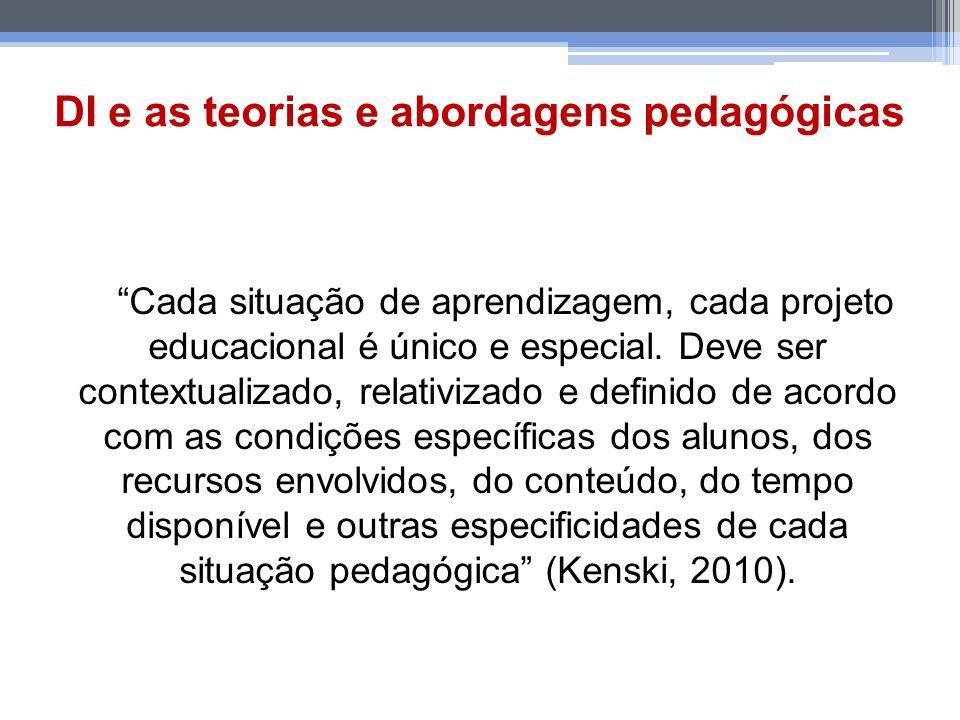 DI e as teorias e abordagens pedagógicas