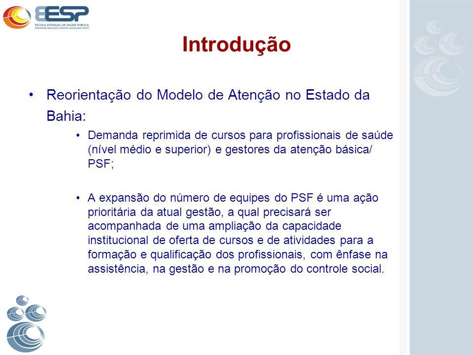 Introdução Reorientação do Modelo de Atenção no Estado da Bahia:
