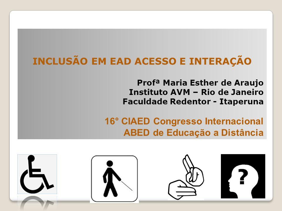 INCLUSÃO EM EAD ACESSO E INTERAÇÃO