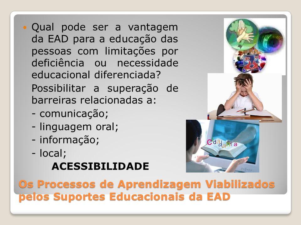 Qual pode ser a vantagem da EAD para a educação das pessoas com limitações por deficiência ou necessidade educacional diferenciada