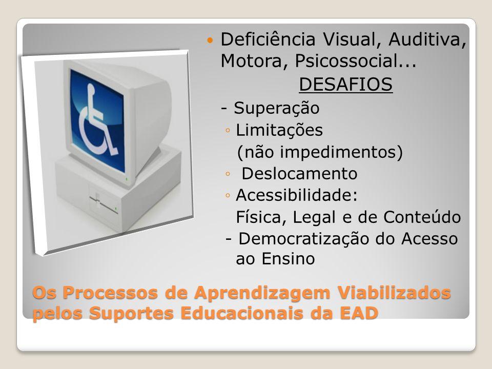 Deficiência Visual, Auditiva, Motora, Psicossocial... DESAFIOS