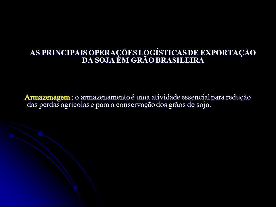 AS PRINCIPAIS OPERAÇÕES LOGÍSTICAS DE EXPORTAÇÃO DA SOJA EM GRÃO BRASILEIRA