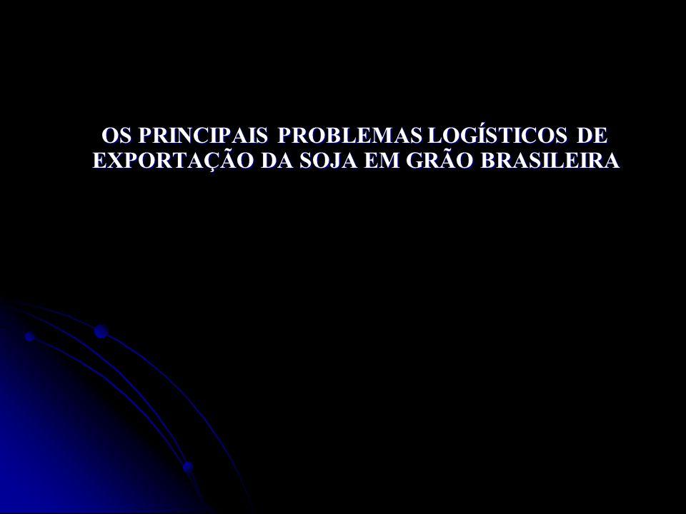OS PRINCIPAIS PROBLEMAS LOGÍSTICOS DE EXPORTAÇÃO DA SOJA EM GRÃO BRASILEIRA