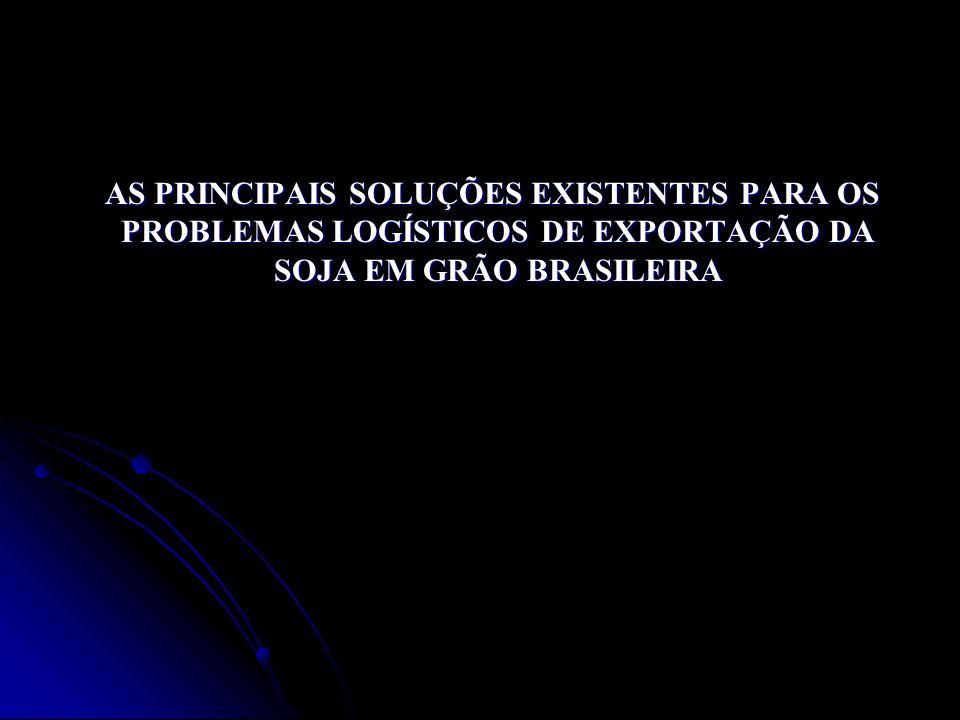 AS PRINCIPAIS SOLUÇÕES EXISTENTES PARA OS PROBLEMAS LOGÍSTICOS DE EXPORTAÇÃO DA SOJA EM GRÃO BRASILEIRA