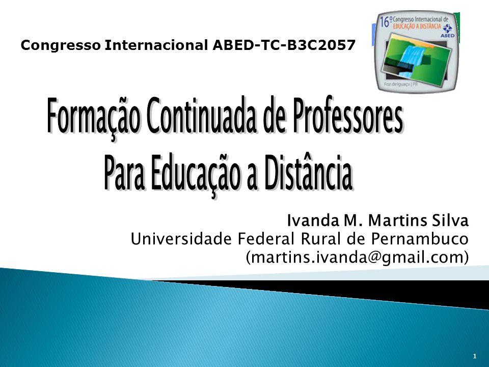 Formação Continuada de Professores Para Educação a Distância