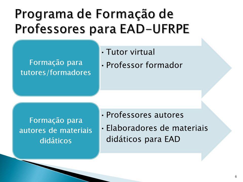 Programa de Formação de Professores para EAD-UFRPE