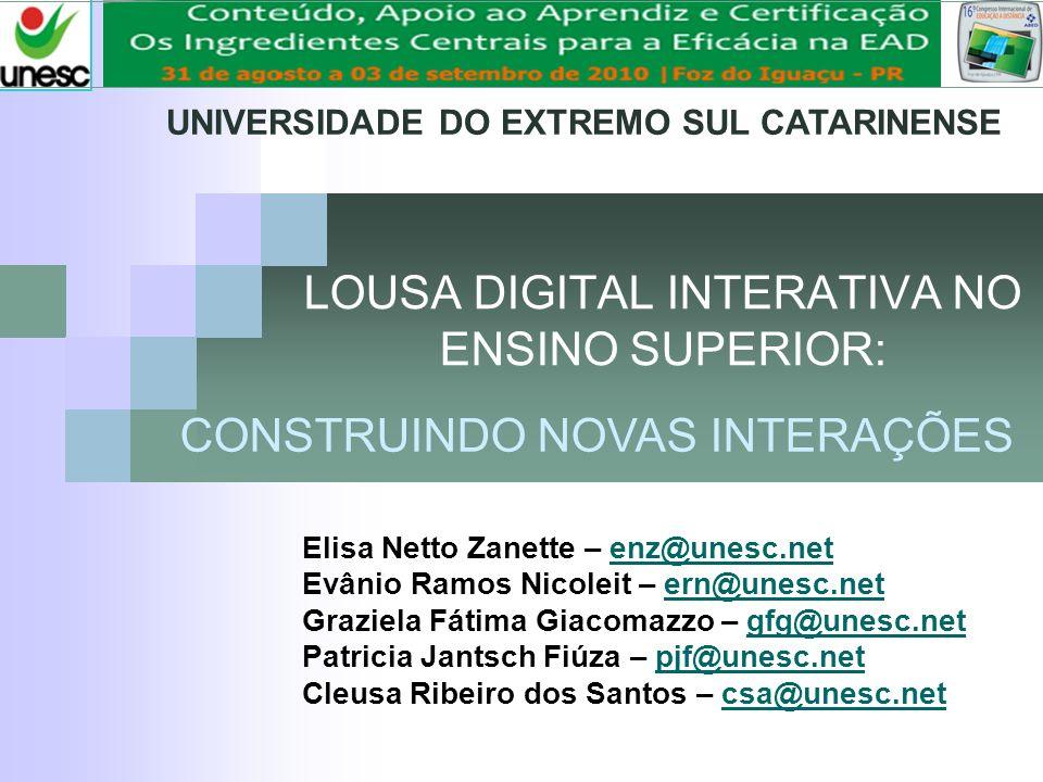 LOUSA DIGITAL INTERATIVA NO ENSINO SUPERIOR:
