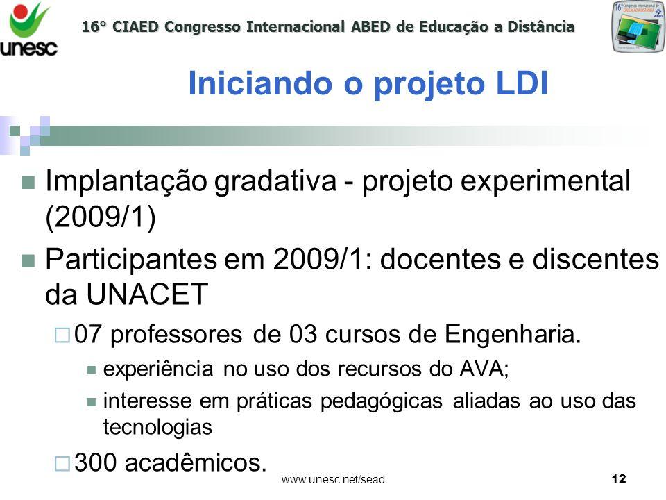 Iniciando o projeto LDI