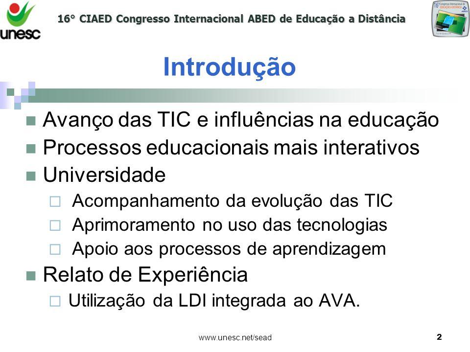 Introdução Avanço das TIC e influências na educação